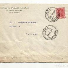Sellos: CIRCULADA 1926 DE PROPAGADORA DEL ALUMBRADO DE INCA A PALMA DE MALLORCA BALEARES . Lote 140514046
