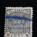 Sellos: TIMBRE TELEGRAFOS 10 CENTIMOS.- 1902. AÑO. USADO,. Lote 140523998