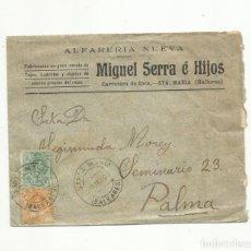 Sellos: CIRCULADA 1923 DE ALFARERIA SANTA MARIA A PALMA DE MALLORCA BALEARES . Lote 140564390