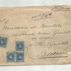 Sellos: CIRCULADA 1903 DE PALMA DE MALLORCA BALEARES A BIARRITZ. Lote 140711542