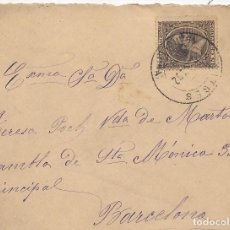 Sellos: EDIFIL 219. SOBRE DE SITGES A BARCELONA. 30-SET-1892. Lote 141185942