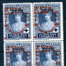 Selos: EDIFIL 383 EN BLOQUE DE 4. 2 PTS SOBRE 40 CTS CRUZ ROJA. NUEVO SIN FIJASELLOS.. Lote 141512254