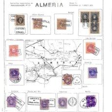 Sellos: COLECCIÓN 1889-1909 CARTERIAS ESPECIALES. ALMERIA. Lote 141698266
