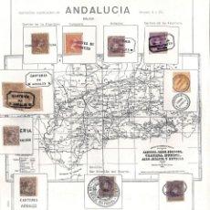Sellos: COLECCIÓN CARTERIAS ESPECIALES GRUPOS I Y II . ANDALUCIA,. Lote 141700746