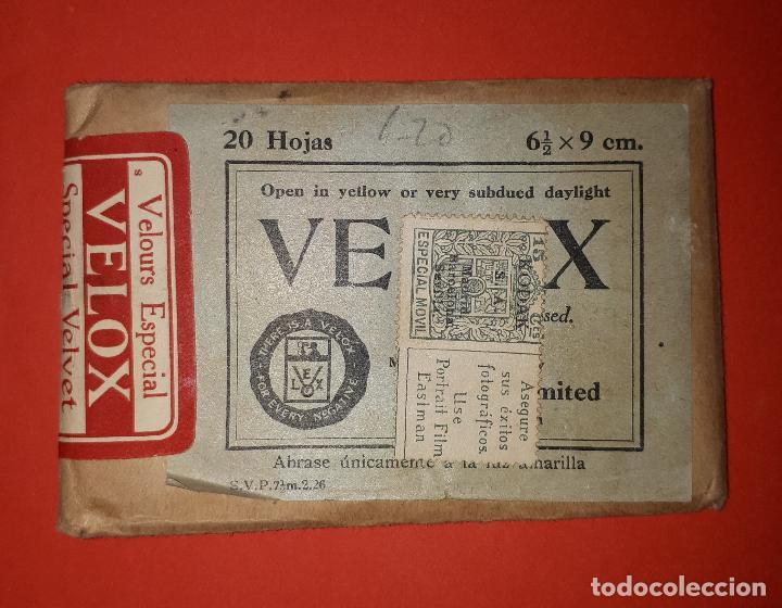 KODAK SOBRE DE 20 HOJAS DE PAPEL FOTOGRÁFICO SELLO 15 CÉNTIMOS (Sellos - España - Alfonso XIII de 1.886 a 1.931 - Usados)