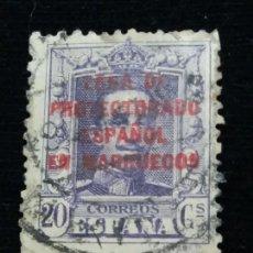 Sellos: 2 SELLOS PROTECTORADO ELLO CORREOS ALFONSO XII. 20 CTS. AÑO 1910. PROTECTORADO ESPAÑOL.. Lote 143101190