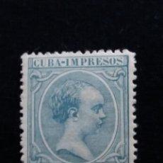 Sellos: SELLO ALFONSO XIII, CUBA IMPRESOS 1 MIL.A DE PESO 1891. Lote 143314638