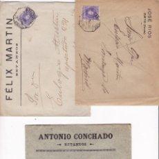 Sellos: F2-7- LOTE 3 CARTAS ALFONSO XIII CADETE . BETANZOS Y CURTIS (CORUÑA) AMBULANTES NOROESTE .CON TEXTO. Lote 143453970