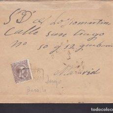 Sellos: F2-11- CARTA ALFONSO XIII PELÓN . MATASELLOS CARTERÍA BARALLA (LUGO). CON TEXTO. Lote 143459254