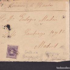 Sellos: F2-11- CARTA ALFONSO XIII 1903 . MATASELLOS CARTERÍA BARREIROS (LUGO). CON TEXTO BENQUERENCIA. Lote 143462482