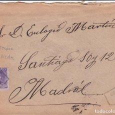 Sellos: F2-18-CARTA ALFONSO XIII 1905. MATASELLOS CARTERÍA IP NEDA (CORUÑA) . CON TEXTO. Lote 143469642