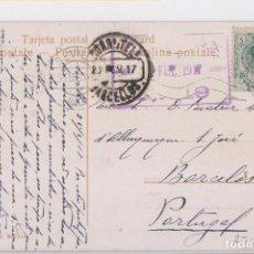 Sellos: POSTAL DE SEVILLA A PORTUGAL. CENSURA PORTUGUESA. 1917.. Lote 143652678