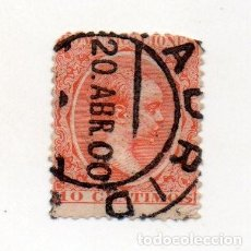 Sellos: ESPAÑA. ALFONSO XIII, 1889-99. EDIFIL 218 10 CTS. BERMELLON. Lote 143730362