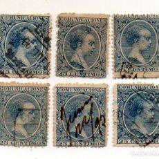 Sellos: ESPAÑA. ALFONSO XIII, 1889-99. EDIFIL 221 25 CTS.AZUL. Lote 143733494