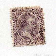 Sellos: ESPAÑA 1889 EDIFIL 226- 1PTA..VIOLETA NEGRO- . Lote 143738698