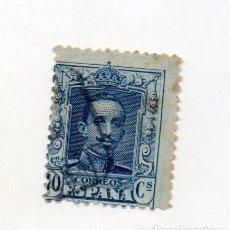 Sellos: ESPAÑA 1922 EDIFIL 319 40C. AZUL . Lote 144029646