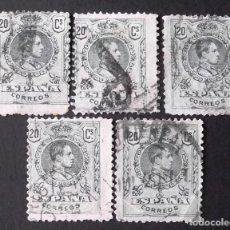 Sellos: 272, 5 SELLOS USADOS. ALFONSO XIII (1909-22).. Lote 144339682