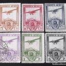 Sellos: 483-88, USADOS. AÉREOS. XI CONGRESO INTERNACIONAL DE FERROCARRILES (1930).. Lote 144447118