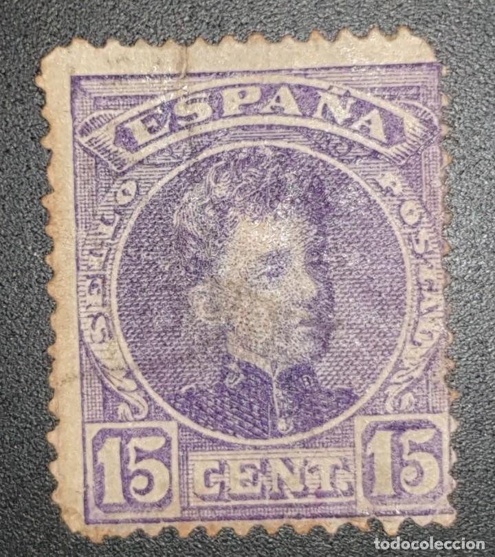 SPAIN - REY ALFONSO XIII - 1901 - 15 C (Sellos - España - Alfonso XIII de 1.886 a 1.931 - Usados)