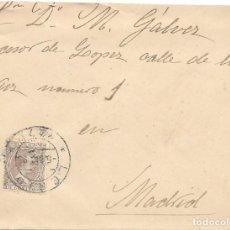 Sellos: EDIFIL 219. SOBRE CIRCULADO DESDE LERIDA A MANUEL GALVEZ EN MADRID. 1895. Lote 146023266