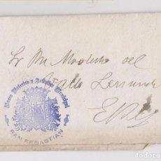 Sellos: CARTA CIRCULADA CON MARCA DEL MUSEO DE SAN SEBASTIÁN. GUIPÚZCOA. PAÍS VASCO. 1908. Lote 147001746