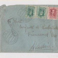 Sellos: SOBRE DE HORCAJO DE SANTIAGO. CUENCA. 1926. VAQUER. A MADRID. MARCA 3ER REPARTO. Lote 147011406