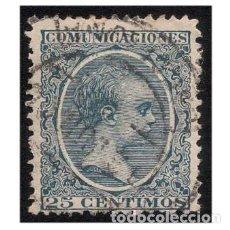 Sellos: ESPAÑA 1889-99. EDIFIL 221. ALFONSO XIII, TIO PELÓN. USADO. Lote 147345870