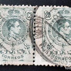 Sellos: ESPAÑA - REY ALFONSO XIII - 20 C - 1909. Lote 147507238