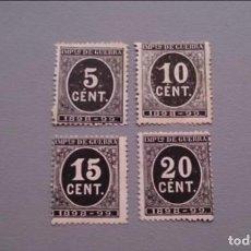 Sellos: INV- ESPAÑA - 1898 - ALFONSO XIII - EDIFIL 236/239 - SERIE COMPLETA - MNG - NUEVOS - VALOR CAT. 102€. Lote 147789894