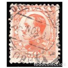 Sellos: ESPAÑA 1930-31. EDIFIL 498. ALFONSO XIII, TIPO VAQUER. USADO. Lote 148554146