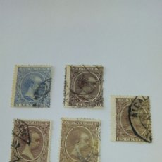 Sellos: ESPAÑA ALFONSO XIII 5 SELLOS 1889 5 Y 15 CÉNTIMOS. Lote 148627980