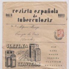 Sellos: BONITO SOBRE PUBLICITARIO. TUBERCULOSIS. 1934. IMPRESOS. MEDICINA. Lote 149608210