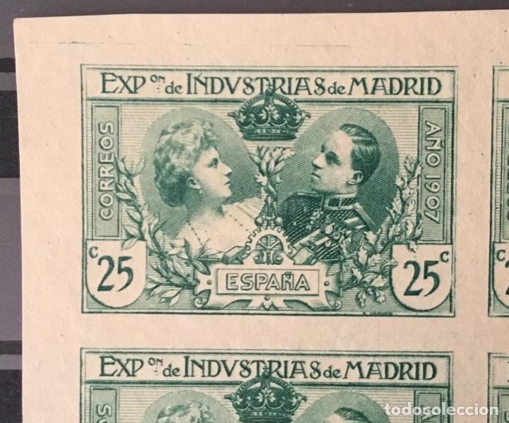 Sellos: 1907-ESPAÑA (*)SR 3 INDUSTRIAS 25 CTS. BLOQUE DE 8 SIN DENTAR ENSAYO EN VERDE MINIPLIEGO. (SR1/6) - Foto 2 - 150501974