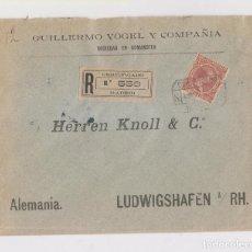 Sellos: RARO SOBRE CERTIFICADO CON SELLO DEL PELÓN A ALEMANIA. 1900. Lote 150534214