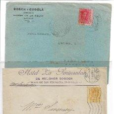 Sellos: LOTE DE CINCO PIEZAS CON SELLOS DE ALFONSO XIII. Lote 150921706
