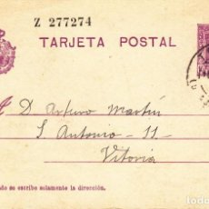 Sellos: TARJETA POSTAL: 1930 TRILLO ( GUADALAJARA ) - VITORIA. Lote 151060318