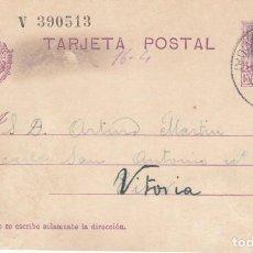 Sellos: TARJETA POSTAL: 1929 EIBAR ( GUIPUZCOA ) - VITORIA. Lote 151060510