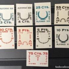 Sellos: 1927-ESPAÑA JUEGO IMPRONTAS SOBRECARGAS CRUZ ROJA TERRESTRE EDIFIL 373/87 GALVEZ 2215/17 Y 2221/26. Lote 151085490
