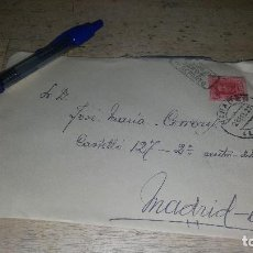 Sellos: SOBRE CARTA CIRCULADA EN 1927 DESDE RIBADEO A MADRID. Lote 151199730
