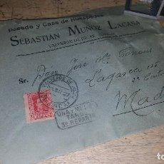 Sellos: SOBRE CARTA DE POSADA EN VALVERDE DE JUCAR, CIRCULADA A MADRID EN 1927. Lote 151200662
