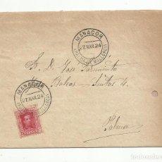 Sellos: CIRCULADA Y ESCRITA 1924 DE MANACOR A PALMA DE MALLORCA BALEARES. Lote 152102786