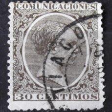 Sellos: EDIFIL 222, USADO, MATASELLO DE FECHA. ALFONSO XIII.. Lote 152136266
