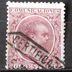 Sellos: EDIFIL 224, USADO; LIGERAS MANCHAS TIEMPO. ALFONSO XIII.. Lote 152138042
