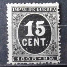 Sellos: EDIFIL 238, SIN MATASELLAR, SIN GOMA; MUY LIGERA DESCARNADURA EN EL REVERSO. CIFRAS.. Lote 152413654