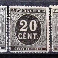 Sellos: EDIFIL 239, TRES SELLOS, SIN MATASELLAR, SIN GOMA. CIFRAS.. Lote 152414038