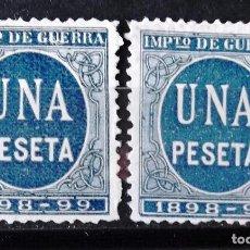 Sellos: EDIFIL MODELO 236-39, 1 PTA., DOS SELLOS,, SIN MATASELLAR, SIN GOMA. CIFRAS.. Lote 152416674