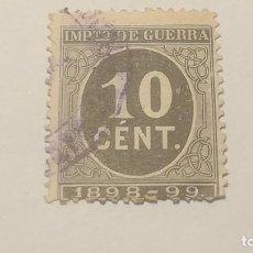 Sellos: IMPUESTO DE GUERRA. 10 CÉNTIMOS 1898-99.. Lote 152467570
