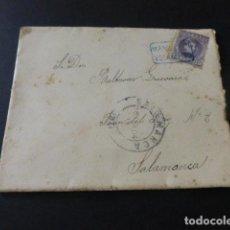 Sellos: CARTA CIRCULADA CON MATASELLOS CARTERIA DE LA MAYA SALAMANCA AÑO 1904. Lote 153673158