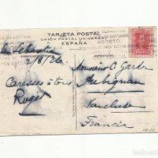 Sellos: POSTAL CIRCULADA 1926 D SAN SEBASTIAN A VANCLUSE FRANCIA CON MATASELLO RODILLO GRAN KURSAAL VER FOTO. Lote 154389754