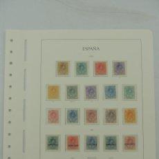 Sellos: SELLOS DE ESPAÑA HOJA CON 22 SELLOS 1909/22. Lote 155574010
